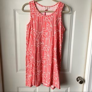 All For Color Coral Sleeveless Tank Dress Medium